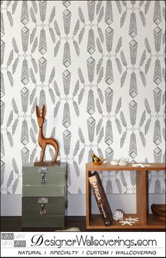 Native Feathers  [FUN-49114] Just Fun Vol. 1 | DesignerWallcoverings.com ™ - Your One Stop Showroom for Custom, Natural, & Specialty Wallcoverings | Largest Selection of Wall Papers | World Wide Showroom | Wallpaper Printers