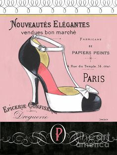 New artwork available on Fine Art America! Still time to order for Christmas! http://fineartamerica.com/featured/elegant-french-shoes-1-debbie-dewitt.html