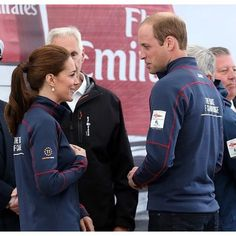 The Duke and Duchess of Cambridge arrive at the Portsmouth Historical Dockyard as they attend the America's Cup World Series event on July 26, 2015 in Portsmouth, England.