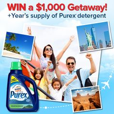Enter to WIN a Southwest Airlines gift card and start the New Year with a getaway from Purex! LOVE TO WIN!!