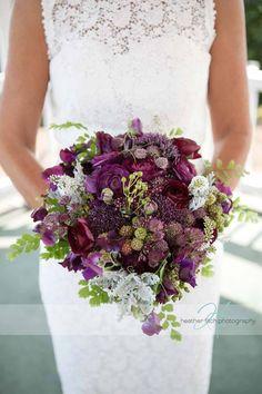 Gorgeous purple bouquet with blackberries!