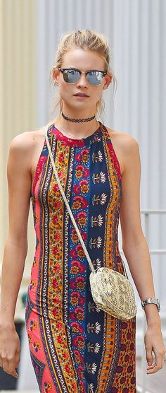 '90s throwback style inspiration: Behati Prinsloo wearing a choker necklace
