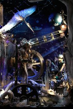 Here we showcase some of the most stunning store window displays on Fifth Avenue and Madison Avenue in NYC  2010.    Here it looks like a Steampunk Time Lord type of think going on...
