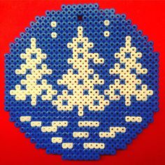 Winter ornanament hama beads by arviedie