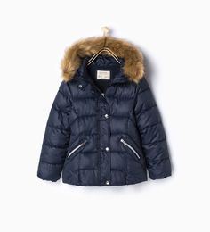 ZARA - KIDS - Quilted jacket with furry detail