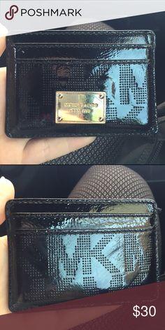 Black Michael Kors credit card holder Gently used! Michael Kors Accessories Key & Card Holders