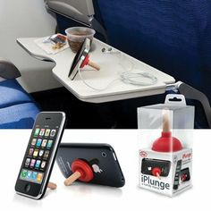 Amazon.com: RED Plunger iPlunge Stand Holder for iPhone iPod Touch: Home & Kitchen