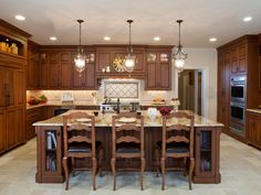 Kitchen Designs by Ken Kelly Wood Mode Kitchens Long Island Nassau Suffolk Queens.... I like this color of wood with a cream a island