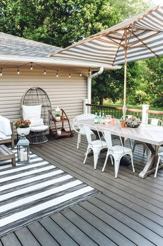 Deck Decorating Ideas On A Budget, Outdoor Deck Decorating, Outdoor Decor, Porch Decorating, Outdoor Spaces, Outdoor Furniture, Outdoor Deck Lighting, Outdoor Kitchens, Outdoor Fun