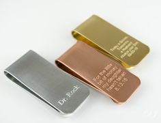 Engraved money clip, Custom money clip, Personalized money clip Hand Stamped…