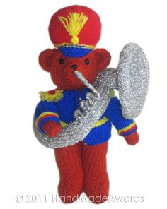 Teddy with Musical Instrument PDF Email Knit PATTERN