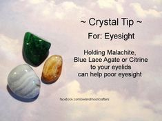 ✯ Crystal Tip: For Eyesight ✯ https://www.etsy.com/ca/shop/MagickalGoodies