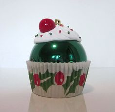Christmas Ornament Cupcake Ornament by LittlePunkinMunkie on Etsy