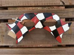 Harlequin Mask  Ready To Ship by BoondockStudios on Etsy, $45.00