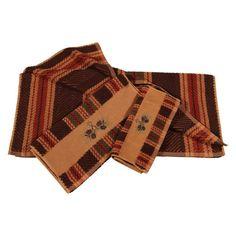 HiEnd Accents Pine Cone 3 Piece Bath Towel Set Stripe - TL5100-OS-ST
