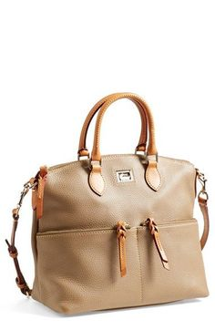 Dooney & Bourke 'Dillen' Zip Pocket Satchel (Online Only) available at Source by Bags for work Burberry Handbags, Prada Handbags, Purses And Handbags, Handbags Online, Satchel Handbags, Cute Purses, Dooney Bourke, Vintage Handbags, Leather Satchel