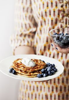 Low-Carb Pancakes with Berries and Whipped Cream