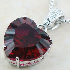 Garnet Sterling Silver Pendant //Price: $18.57 & FREE Shipping // Get it here ---> https://bestofnecklace.com/garnet-sterling-silver-pendant/    #jewellery