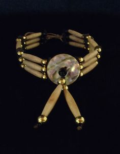 Three Row Bone Choker with Abalone Disk Sioux Handmade | eBay