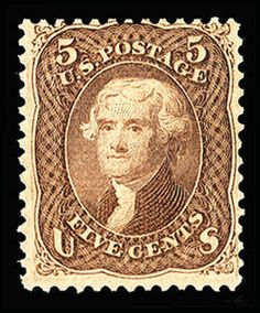 United States 1867 Grill Issue 5c brown, F.Grill, usual centering, deep rich color, fully intact perforations all around, original gum which is never hinged, fine and...