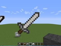 How to Make a Pixel Iron Sword in minecraft!