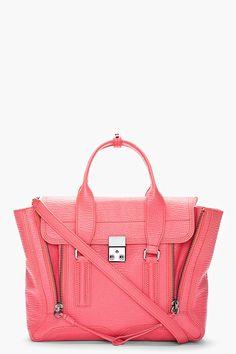 6520bfe7dbfe65 3.1 PHILLIP LIM large pashli Color Magenta, Coral Pink, Pink Shark,  Boutique En