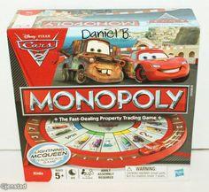 DISNEY PIXAR CARS 2 MONOPOLY HASBRO FAMILY FUN BOARD GAME COMPLETE USED 2011 #Hasbro