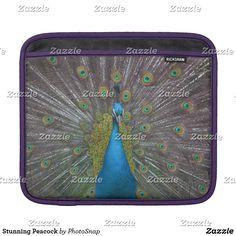 Stunning Peacock iPad Sleeve