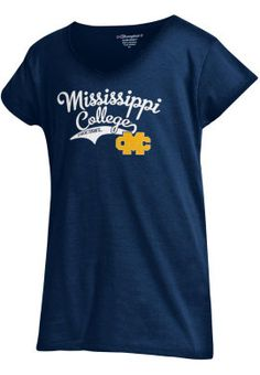 Product: Mississippi College Choctaws Girls' Powder Puff T-Shirt