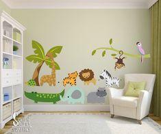 Fabric Wall Decal Set For Nursery And Kids Rooms Jungle Safari Wall Decor Boy