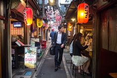 Tucked away from the traffic and the noise is Memory Lane in the Shinjuku neighbourhood of Tokyo, an alley of traditional restaurants and yakitori joints