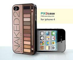 iPhone 4 Case, Naked Eyeshadow Makeup Set, Girly Make Up iPhone 4 Case, Case for iPhone 4S, on Etsy, $9.99