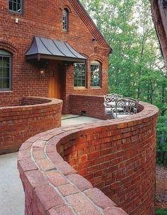 love this curvy brick work
