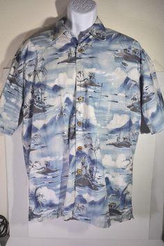 JOHN SEVERSON COLLECTION Kahala Hawaiian Islands Shirt Mens L - S/S Coconut    eBay