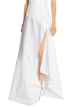Shop on-sale Michael Lo Sordo Split striped cotton-poplin maxi skirt. Browse other discount designer Skirts & more on The Most Fashionable Fashion Outlet, THE OUTNET.COM