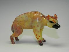 Hyena (Hand Blown Glass, Handcrafted, Glassblowing, Lampworking)