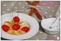 Recette de Salade de pâtes (poulet-pamplemousse-tomate cerise) : la recette facile