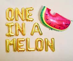 One in a Melon Party, Tutti Fruity Theme, Watermelon Party, Twotii Fruity, Fruit Party, Fruit Balloons, Watermelon Balloon, One in a Melon by girlygifts07 on Etsy https://www.etsy.com/listing/535133495/one-in-a-melon-party-tutti-fruity-theme