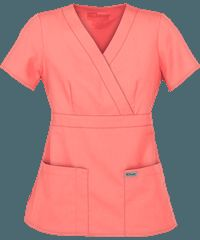 Grey's Anatomy Scrubs by Barco Uniforms Junior Fit Mock Wrap Tops  size small colors i like: sangria, indigo, twilight, hunter, moonstruck