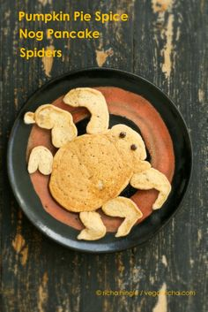 Pumpkin Pie Spice Nog Pancake Spiders - we can't think of a better Halloween breakfast