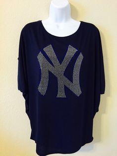 NY Yankees Rhinestone T-Shirt https://www.etsy.com/listing/281821970/ny-yankees-rhinestone-t-shirt?ref=shop_home_active_44