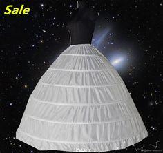 White 6 HOOP PETTICOAT Crinoline SLIP Underskirt BRIDAL WEDDING Dress Hot Sale Real Sample Bridal Petticoat Bridal Underskirt Online with $15.19/Piece on Orient2015's Store   DHgate.com