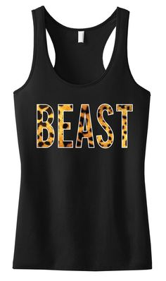 #BEAST Leopard on Black Racerback. #Crossfit #Workout Tank Top by NobullWomanApparel, $24.99 on Etsy. Look Great and Motivate! Click here to buy https://www.etsy.com/listing/155249548/beast-leopard-on-black-workout-tank?ref=shop_home_active_13