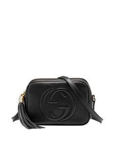 Soho Leather Disco Bag, Black by Gucci at Neiman Marcus.   Simple, perfect crossbody