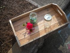 Serving Tray, Wood Serving Tray, Pallet Wood, Pallet Tray, Reclaimed wood. $39.00, via Etsy.