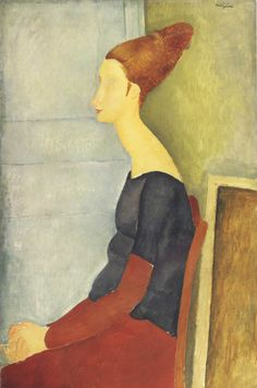 "Amedeo Modigliani ""Portrait of Jeanne Hebuterne"" oil, canvas, 100x65 sm, 1918"