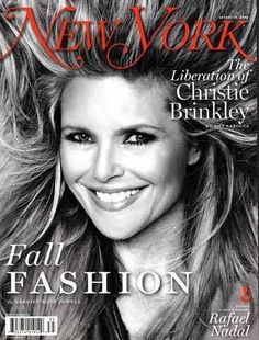 Christie Brinkley, cover of New York Magazine Aug shot by Ruven Afanador Top Models, Christie Brinkley, People Of Interest, Fashion Cover, Famous Models, Vogue Magazine, Cosmopolitan Magazine, Beauty Industry, Inline