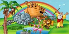 Noah's Ark wall mural for a baby's room!!