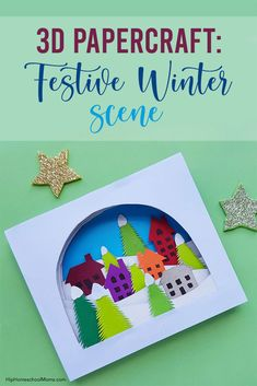 This papercraft teaches you how to create a festive, wintery work of art that makes a gorgeous decoration for the holidays and into the rest of winter! This craft tutorial includes free, printable templates! Winter Activities For Kids, Winter Crafts For Kids, Craft Projects For Kids, Winter Kids, Art For Kids, Ruler Crafts, Foam Crafts, Baby Crafts, Printable Templates