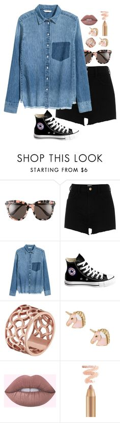 """Untitled #10"" by apples-ed ❤ liked on Polyvore featuring Gentle Monster, River Island, H&M, Converse and Tartesia"